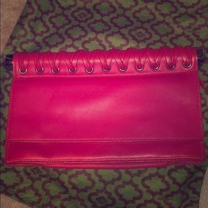 orYANY Hot Pink Clutch Bag with Stainless Handle